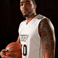 Dwight McCombs of the University of Central Florida Knights mens basketball team poses on media day at the UCF Arena on October 14, 2010 in Orlando, Florida. (AP Photo/Alex Menendez)