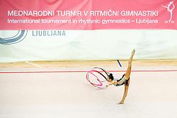 competes during 31st MTM - International tournament in rhythmic gymnastics Ljubljana, on April 7, 2018 in Gymnastics center Ljubljana, Ljubljana, Slovenia. Photo by Matic Klansek Velej / Sportida