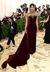Priyanka Chopra attending the Metropolitan Museum of Art Costume Institute Benefit Gala 2018 in New York, USA. PRESS ASSOCIATION Photo. Picture date: Picture date: Monday May 7, 2018. See PA story SHOWBIZ MET Gala. Photo credit should read: Ian West/PA Wire