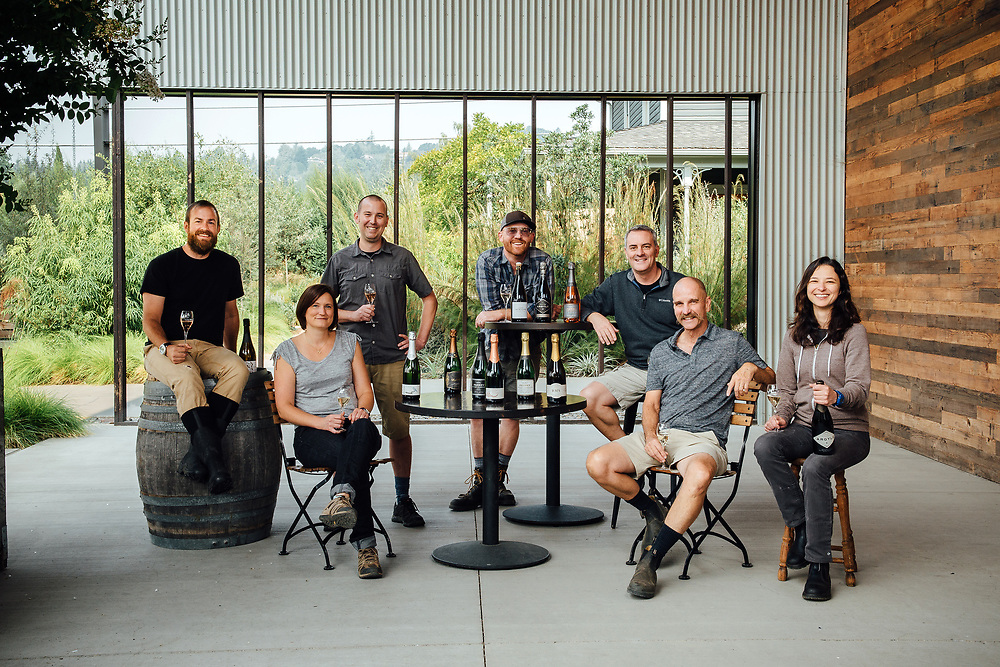 Wine Maker Portrait photographed for Oregon Wine Press featuring sparkling wine producers in the Willamette Valley at Argyle Winery in Dundee, Oregon