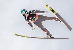22.03.2019, Planica, Ratece, SLO, FIS Weltcup Ski Sprung, Skiflug, Einzelbewerb, Probesprung, Finale, im Bild Michael Hayboeck (AUT) // Michael Hayboeck of Austria during his trail jump of the Ski Flying Hill individual competition of the FIS Ski Jumping World Cup Final 2019. Planica in Ratece, Slovenia on 2019/03/22. EXPA Pictures © 2019, PhotoCredit: EXPA/ JFK