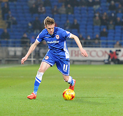 Cardiff City's Craig Noone in action during the Sky Bet Championship match between Cardiff City and Brighton & Hove Albion at Cardiff City Stadium on 10 February 2015 in Cardiff, Wales - Photo mandatory by-line: Paul Knight/JMP - Mobile: 07966 386802 - 10/02/2015 - SPORT - Football - Cardiff - Cardiff City Stadium - Cardiff City v Brighton & Hove Albion - Sky Bet Championship