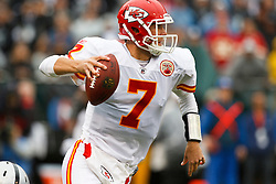 November 7, 2010; Oakland, CA, USA;  Kansas City Chiefs quarterback Matt Cassel (7) scrambles out of the pocket against the Oakland Raiders during the first quarter at Oakland-Alameda County Coliseum.
