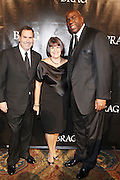 l to r : Stephen Sandove, Karin Sandove and Magic Johnson at The B.R.A.G 39th Annual Scholarship and Awards Dinner Gala held at Cipriani Wall Sreet on October 23, 2009 in New York City...BRAG mission is to be the leading provider of resources and development suppoert that empowers African Americans to reach their highiest professional potential in retail and related industries