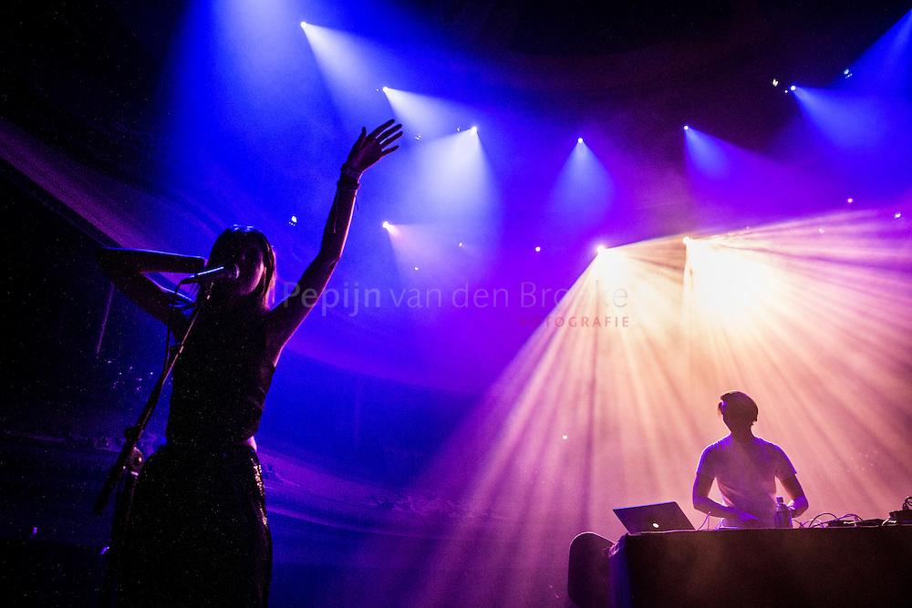 Nederland, Groningen 20150115. Optreden Samaris op ESNS 2015. Samaris is an electronic music group from Iceland. foto: Pepijn van den Broeke