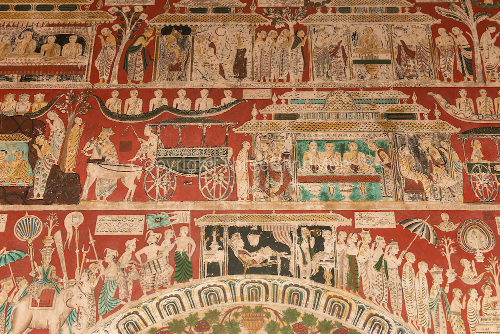 The wall of this temple have some of the finest examples of temple mural painting.<br /> Shailabimbarama Buddhist Temple in Dodanduwa.