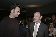Vince Vaughn and Kevin Spacey, The 25th hour post party at the Plaza on the River, 18 Albert Embankment. Culmination of the 24 Hour Plays Celebrity Gala at the Old Vic.London. 8 October 2006.  -DO NOT ARCHIVE-© Copyright Photograph by Dafydd Jones 66 Stockwell Park Rd. London SW9 0DA Tel 020 7733 0108 www.dafjones.com