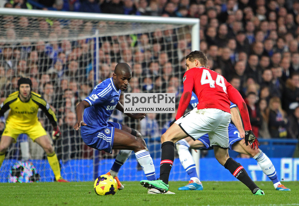 Manchester United's Adnan Januzaj attacks the goal during the English Barclays Premiership match between Chelsea FC and Manchester United FC at Stamford Bridge, London, 19th January 2014 © Phil Duncan | SportPix.org.uk