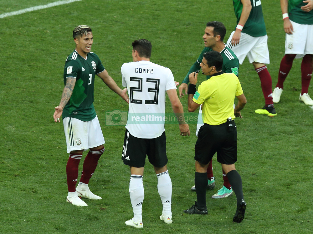 June 17, 2018 - Moscow, Russia - June 17, 2018, Russia, Moscow, FIFA World Cup, First round, Group F, Germany vs Mexico at the Luzhniki stadium. Player of the national team Carlos Joel Salcedo Hernandez (Credit Image: © Russian Look via ZUMA Wire)