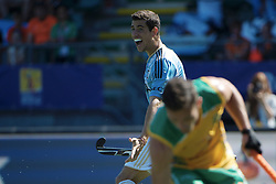 DEN HAAG - Rabobank Hockey World Cup<br /> 28 Argentina - South Africa<br /> Foto: Joaquin Menini scored.<br /> COPYRIGHT FRANK UIJLENBROEK FFU PRESS AGENCY