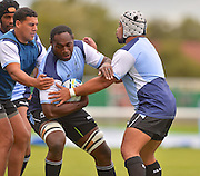 Tackling practice  during the Fiji Training Session in preparation for the Rugby World Cup at London Irish RFC, Sunbury-On-Thames, United Kingdom on 14 September 2015. Photo by Ian Muir. during the Fiji Training Session in preparation for the Rugby World Cup at London Irish RFC, Sunbury-On-Thames, United Kingdom on 14 September 2015. Photo by Ian Muir.