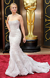 Kristen Bell arriving to the 2014 Oscars at the Hollywood and Highland Center in Hollywood, California, USA,  Sunday, 2nd March 2014. Picture by Hollywood Bubbles / i-Images<br /> UK ONLY
