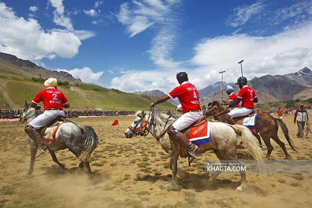 Drass moves beyond the scars of the Kargil war to cheer the Polo match conceptualized by The Lalit Suri Hospitality Group who landed at the high turfs, for a friendly game to prompte tourism in the J&K region. The third season of The Lalit Suri Polo 2011 held at the Vishwanathan Stadium, at an altitude of 3280 meters and the second coldest habitat on earth, witnessed an enlivening & festive atmosphere. The match was cheered by thousands of locals and was accompanied by traditional Surna - a wind instrument and Daman - traditional percussion instument, without which no polo match is complete in Drass