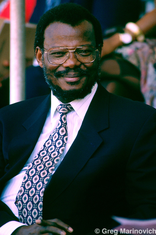 IFP leader, Chief Mangostuthu Buthelezi, Zulu Rally, Kings Park Stadium, Durban 1994