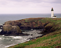 Yaquina Head Lighthouse, Central Oregon Coast USA