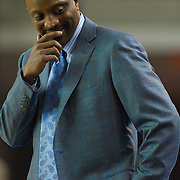 Drexel Head Men's Basketball Coach James Flint argues a call during a Colonial Athletic Association conference basketball game, Saturday, Dec. 03, 2011 at the Bob carpenter center in Newark Delaware...Sophomore Guard #10 Devon Saddler would finish the game with 30 total points, Delaware defeat Drexel 71-60.