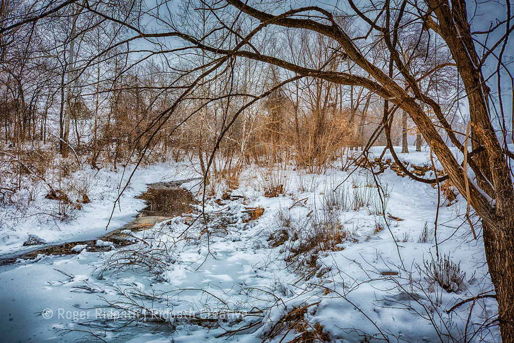 Shoal Creek in winter snow
