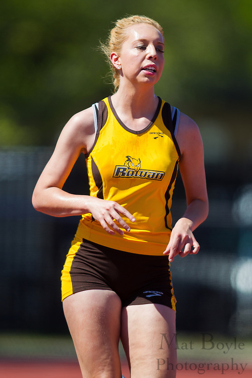 Rowan University freshman Laura DuBois competes in women's 10,000 meters at the NJAC Track and Field Championships at Richard Wacker Stadium on the campus of  Rowan University  in Glassboro, NJ on Saturday May 4, 2013. (photo / Mat Boyle)
