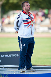 DAVIES Aled, GBR, Discus, F42, Podium, 2013 IPC Athletics World Championships, Lyon, France