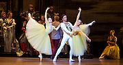 Swan Lake <br /> Bolshoi Ballet <br /> at The Royal Opera House, Covent Garden, London, Great Britain <br /> press photocall / rehearsal <br /> 29th July 2016 <br /> <br /> <br /> <br /> <br /> Russian Skvortsov as Prince Siegfried <br /> and The Prince's friends <br /> Kristina Kretova<br /> Daria Khokhlova<br /> <br /> <br /> Photograph by Elliott Franks <br /> Image licensed to Elliott Franks Photography Services