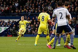 Christian Eriksen of Tottenham Hotspur scores a goal from a free kick to make it 0-1 - Photo mandatory by-line: Rogan Thomson/JMP - 07966 386802 - 31/01/2015 - SPORT - FOOTBALL - West Bromwich, England - The Hawthorns - West Bromwich Albion v Tottenham Hotspur - Barclays Premier League.