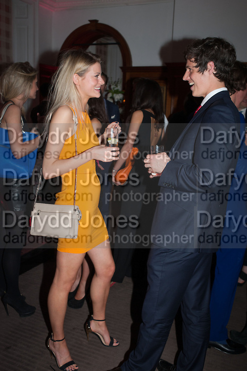CHARLOTTE BAER; GEORGE NORTHCOTT, Rocco Forte's Brown's Hotel Hosts 175th Anniversary Party, Browns Hotel. Albermarle St. London. 16 May 2013