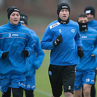 St Johnstone Training.....24.12.13<br /> Tom Scobbie and Frazer Wright pictured in training ahead of the Boxing Day game against Celtic.<br /> Picture by Graeme Hart.<br /> Copyright Perthshire Picture Agency<br /> Tel: 01738 623350  Mobile: 07990 594431