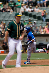 OAKLAND, CA - JULY 23:  Russell Martin #55 of the Toronto Blue Jays rounds the bases after hitting a two run home run off of Drew Pomeranz #13 of the Oakland Athletics during the second inning at O.co Coliseum on July 23, 2015 in Oakland, California. The Toronto Blue Jays defeated the Oakland Athletics 5-2. (Photo by Jason O. Watson/Getty Images) *** Local Caption *** Russell Martin; Drew Pomeranz