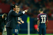 Paris Saint Germain's Spanish Coach Unai Emeri gestures during the French championship L1 football match between Paris Saint-Germain (PSG) and Saint-Etienne (ASSE), on August 25, 2017 at the Parc des Princes in Paris, France - Photo Benjamin Cremel / ProSportsImages / DPPI