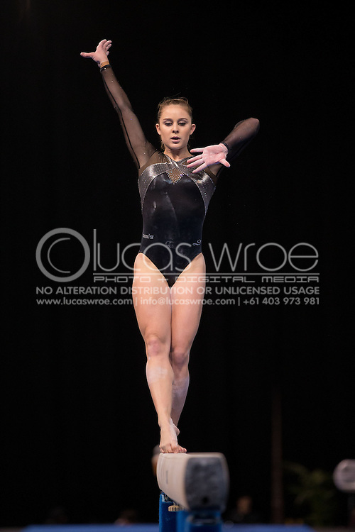 Beam, May 25, 2014 - GYMNASTICS : Australian National Gymnastics Championships, Hisense Arena, Melbourne, Victoria, Australia. Credit: Lucas Wroe / Winkipop Media
