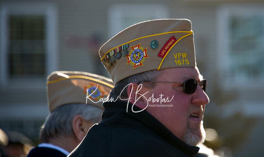Veteran's Day service in Laconia.  Karen Bobotas for the Laconia Daily Sun
