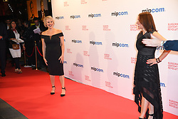 Brittany Leborgne, Christina Fon arriving for the opening ceremony of the MIPCOM in Cannes - Marche international des contenus audiovisuels du 16-19 Octobre 2017, Palais des Festivals, Cannes, France.<br />