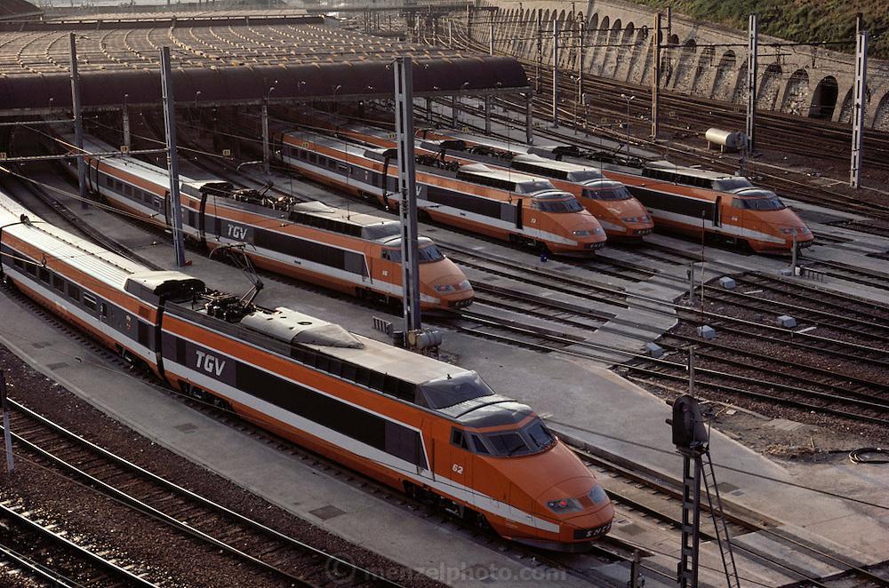 Gare de Lyon TGV high-speed train. Paris, France.