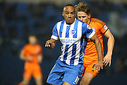 Chris O'Grady, Brighton striker during the Sky Bet Championship match between Brighton and Hove Albion and Ipswich Town at the American Express Community Stadium, Brighton and Hove, England on 21 January 2015.