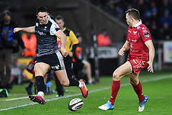 Owen Watkin of Ospreys in action during todays match<br /> <br /> Photographer Craig Thomas/Replay Images<br /> <br /> Guinness PRO14 Round 11 - Ospreys v Scarlets - Saturday 22nd December 2018 - Liberty Stadium - Swansea<br /> <br /> World Copyright © Replay Images . All rights reserved. info@replayimages.co.uk - http://replayimages.co.uk