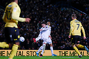 Leeds United midfielder Pablo Hernandez (19) scores a goal to make the score 2-2 during the EFL Sky Bet Championship match between Leeds United and Millwall at Elland Road, Leeds, England on 28 January 2020.