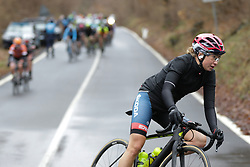 Cecilie Uttrup Ludwig (DEN) of Cervélo-Bigla Cycling Team corners during the Trofeo Alfredo Binda - a 131,1 km road race, between Taino and Cittiglio on March 18, 2018, in Varese, Italy. (Photo by Balint Hamvas/Velofocus.com)