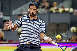 May 11, 2017 - Madrid, Madrid, Spain - FELICIANO LOPEZ (ESP) returns the ball to Novak Djokovic (SRB) in round 3 of the 'Mutua Madrid Open' 2017. Djokovic won 6:4, 7:5 (Credit Image: © Matthias Oesterle via ZUMA Wire)
