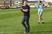 Forest Green Rovers manager, Mark Cooper applauds the fans at the end of the match during the EFL Sky Bet League 2 match between Forest Green Rovers and Cambridge United at the New Lawn, Forest Green, United Kingdom on 22 April 2019.