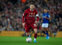LIVERPOOL, ENGLAND - Sunday, January 5, 2020: Liverpool's Adam Lallana during the FA Cup 3rd Round match between Liverpool FC and Everton FC, the 235th Merseyside Derby, at Anfield. (Pic by David Rawcliffe/Propaganda)
