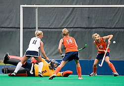 Virginia Cavaliers M/B Boyd Vicars (15) makes a save against Penn State.  The #10 ranked Virginia Cavaliers fell to the #7 ranked Penn State Nittany Lions 3-1 at the University Hall Turf Field in Charlottesville, VA on August 26, 2007.