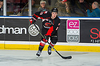 KELOWNA, BC - FEBRUARY 08: Ethan Browne #19 of the Prince George Cougars receives a pass against the Kelowna Rockets at Prospera Place on February 8, 2019 in Kelowna, Canada. (Photo by Marissa Baecker/Getty Images)