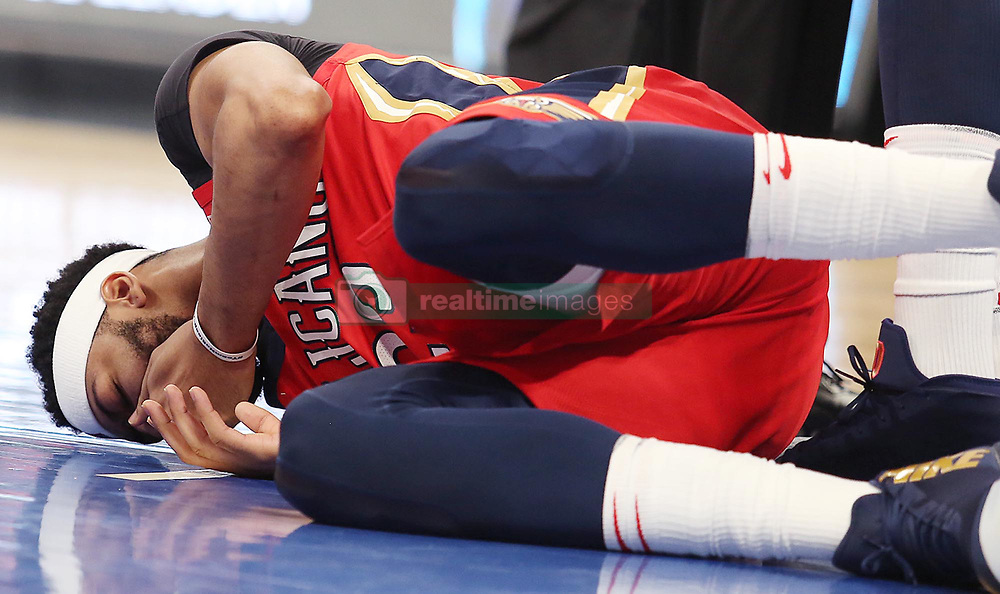 December 22, 2017 - Orlando, FL, USA - The New Orleans Pelicans' Anthony Davis on the court after a foul during action against the Orlando Magic at the Amway Center in Orlando, Fla., on Friday, Dec. 22, 2017. (Credit Image: © Stephen M. Dowell/TNS via ZUMA Wire)