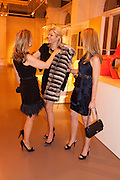 CATHERINE HEESCHEN; NADJA SWAROVSKI; ANDREA HAMILTON;, Outset dinner 2011.  Organised by Yana Peel supported by Swarovskito raise funds for the V+A to starts its contemporary design collection. V & A. London. 23 March 2011. -DO NOT ARCHIVE-© Copyright Photograph by Dafydd Jones. 248 Clapham Rd. London SW9 0PZ. Tel 0207 820 0771. www.dafjones.com.