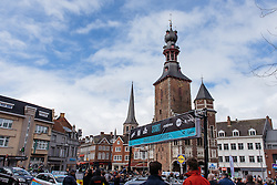 Despite the security concerns the race is about to get underway in Tielt - Dwars door Vlaanderen 2016, a 103km road race from Tielt to Waregem, on March 23rd, 2016 in Flanders, Netherlands.