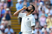 100 for Virat Kohli (captain) of India - Virat Kohli (captain) of India celebrates scoring a century during second day of the Specsavers International Test Match 2018 match between England and India at Edgbaston, Birmingham, United Kingdom on 2 August 2018. Picture by Graham Hunt.