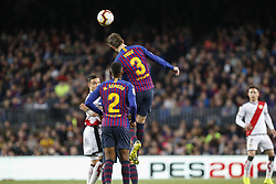 March 9, 2019 - Barcelona, Catalonia, Spain - FC Barcelona defender Gerard Pique (3) during the match FC Barcelona v Rayo Vallecano, for the round 27 of La Liga played at Camp Nou  on 9th March 2019 in Barcelona, Spain. (Credit Image: © Mikel Trigueros/NurPhoto via ZUMA Press)
