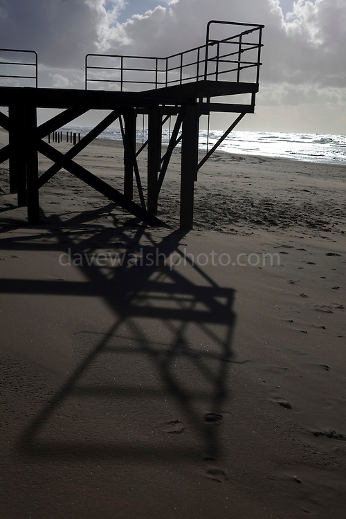Lifeguard platform, on the beach near Castricum, Netherlands