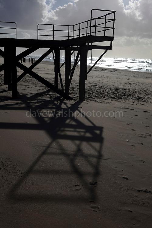 Lifeguard platform, on the beach near Castricum, Netherlands