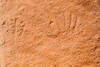Arch Canyon petroglyphs, hand prints; Cedar Mesa, UT